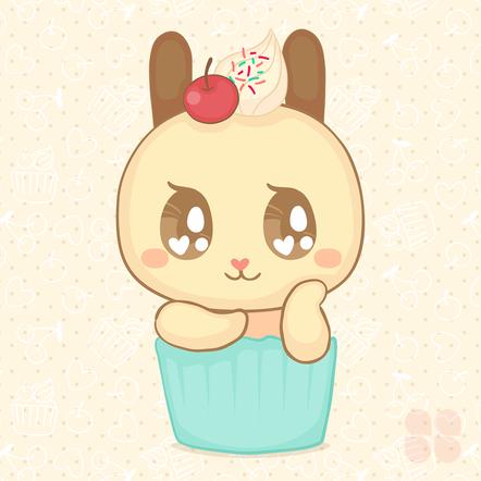 Cupcake bunny