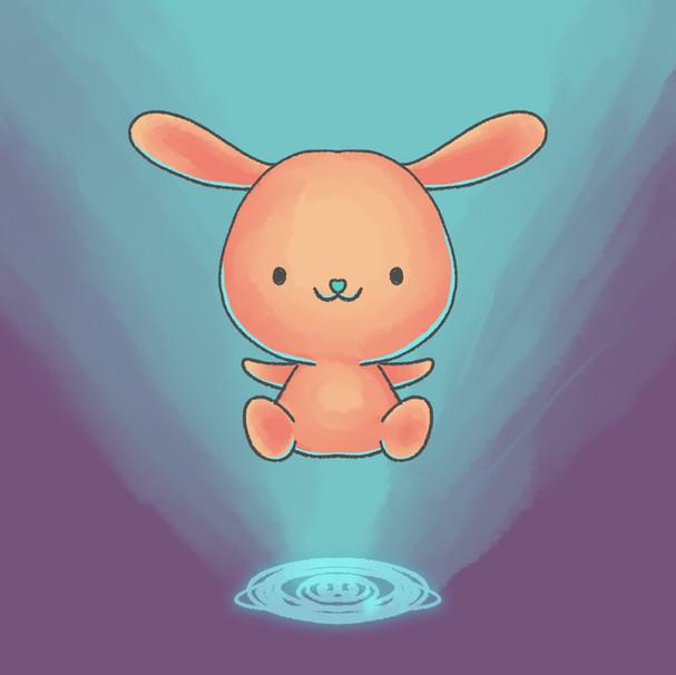 Pink kawaii rabbit