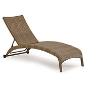 wickerandmore | Key West Armless Chaise Lounge Oyster Grey