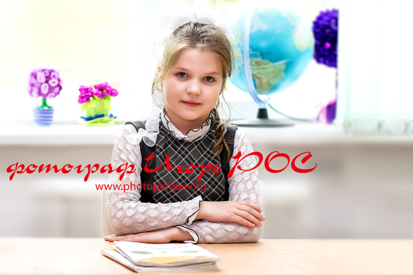 детский портрет в школе Новосибирск