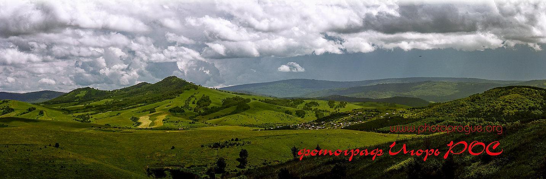 Горно - Алтайск, Республика Алтай, горно алтайск, панорамная фотография, фотограф Игорь Рос Новосибирск.