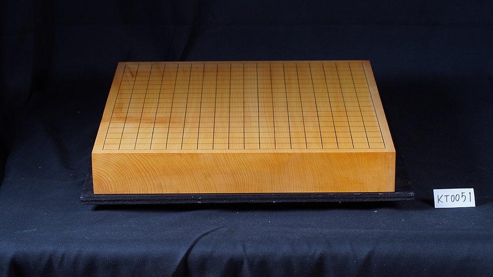 【KT0051】九州山地本榧 天地柾 一枚盤 卓上碁盤