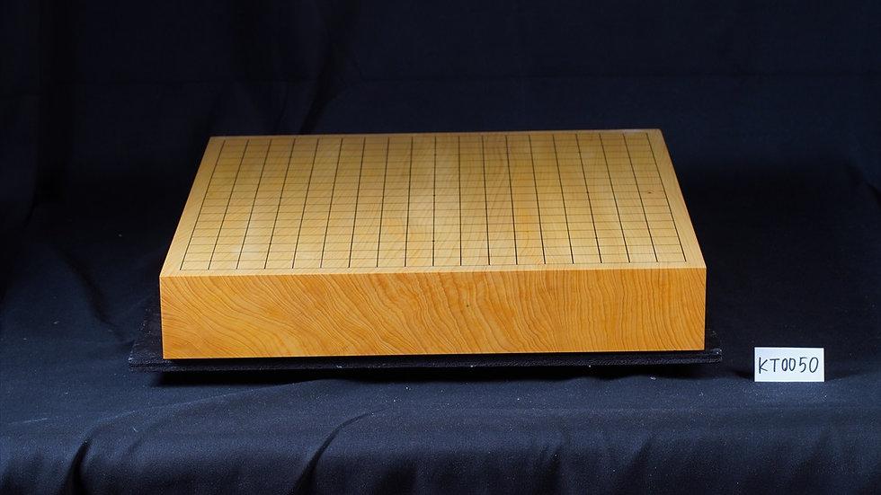 【KT0050】日本産本榧 天地柾 一枚盤 卓上碁盤