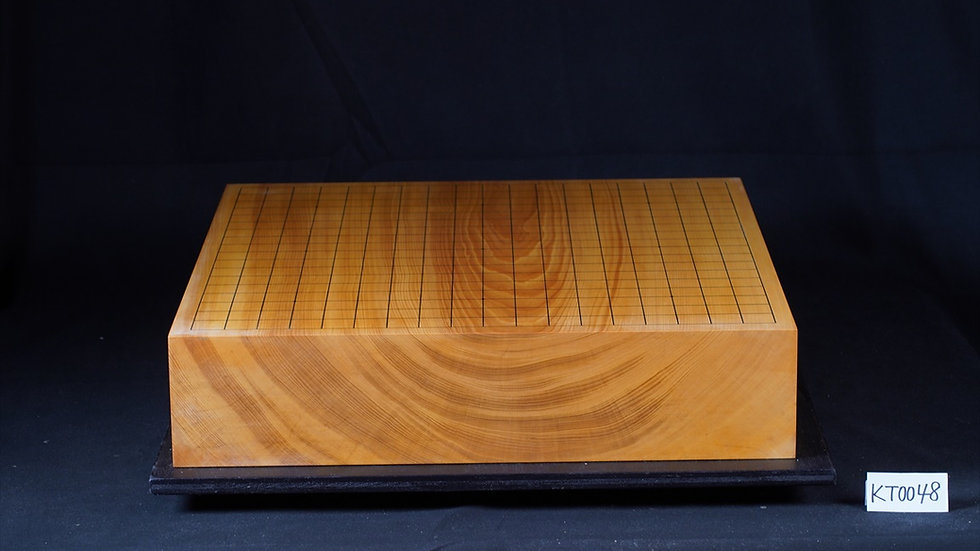 【KT0048】綾営林署産本榧 板目(木裏) 一枚盤 卓上碁盤