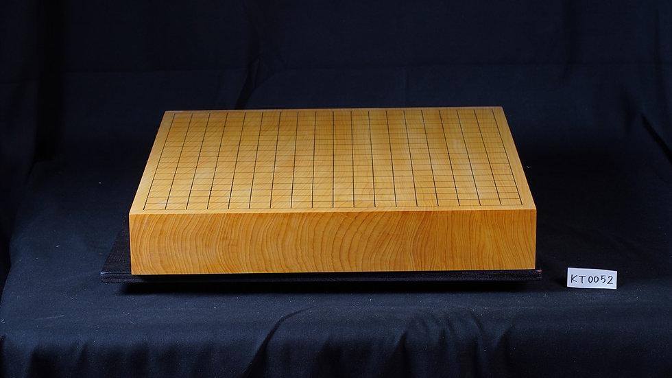【KT0052】九州山地本榧 天地柾 一枚盤 卓上碁盤
