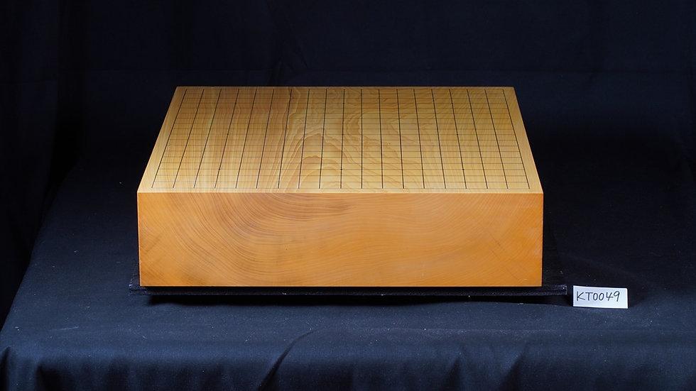 【KT0049】日本産本榧 板目(木裏) 一枚盤 卓上碁盤