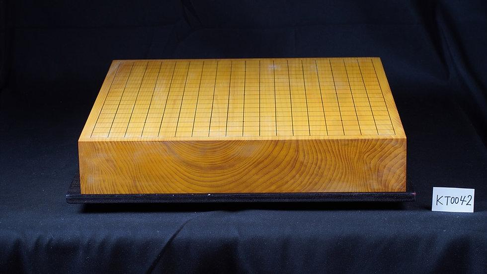 【KT0042】日本産本榧 板目(木裏) 一枚盤 卓上碁盤