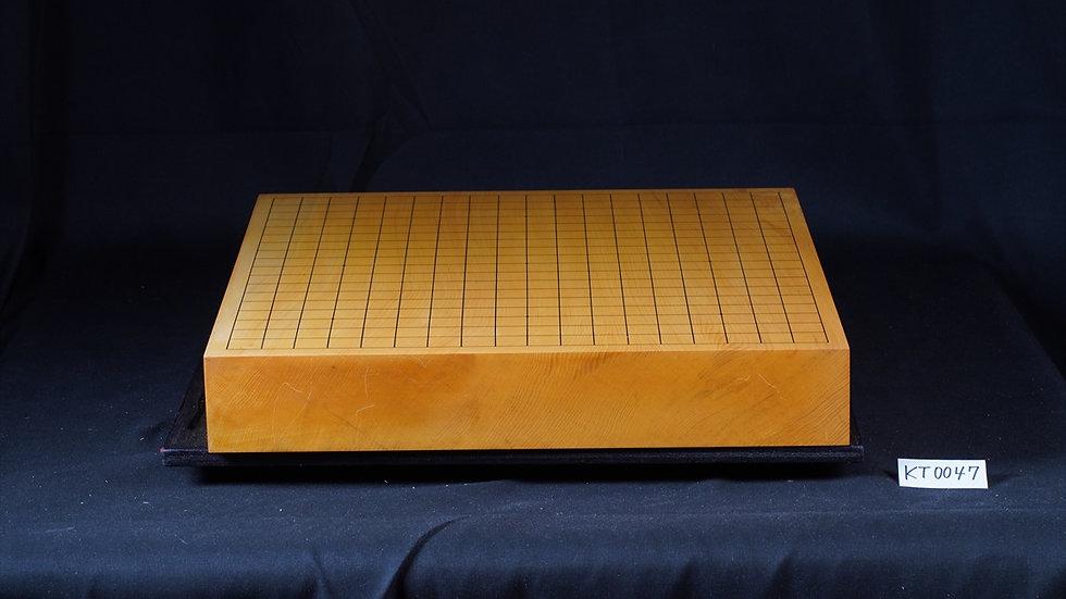 【KT0047】日向産本榧 天地柾 一枚盤 卓上碁盤