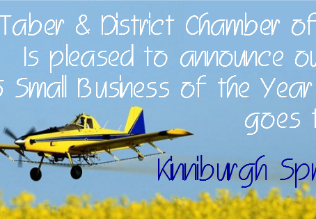 Kinniburgh Spray Service Flies its way to Small Business of the Year