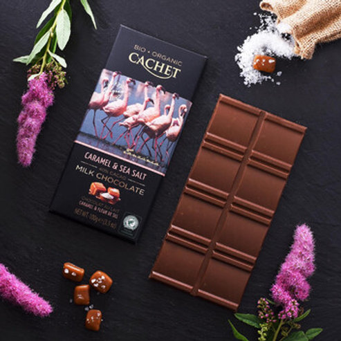 Cachet Organic Chocolate - 40% cacao with Caramel & Sea Salt