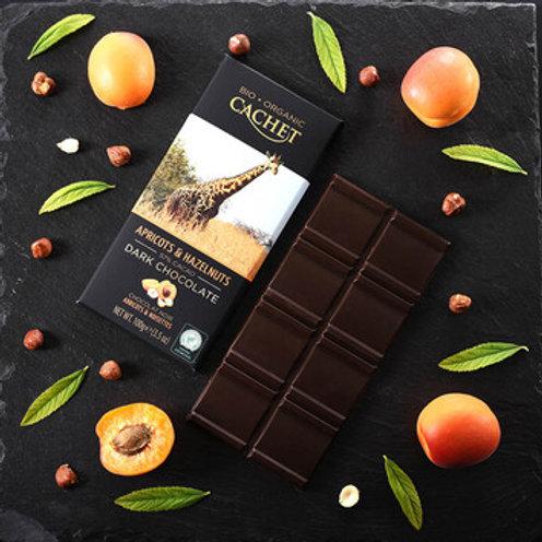 Cachet Organic Chocolate - 57% cacao with Apricot & Hazelnut
