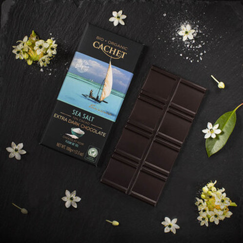 Cachet Organic Chocolate - 72% Cacao & Sea Salt