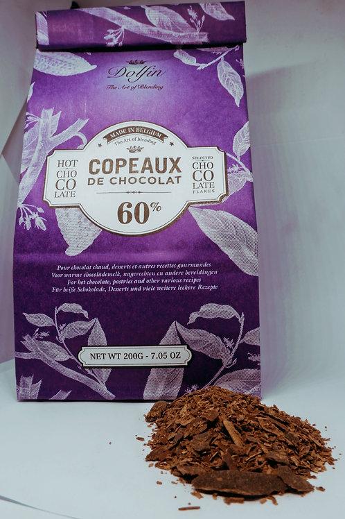 Dolfin Belgian Chocolate Flakes 60%