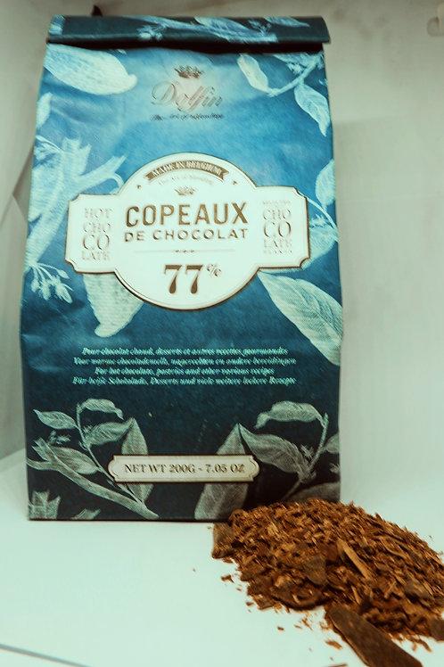 Dolfin Belgian Chocolate Flakes 77%