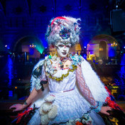 The magical costumes and makeup of the performers