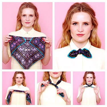 Scarf styling tutorial for Liberty London