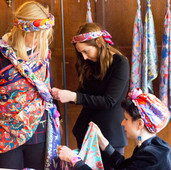 Creating a dress out of Liberty scarves