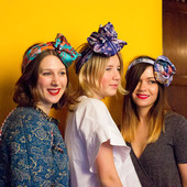 Styled Liberty scarves on the hair of gorgeous bloggers