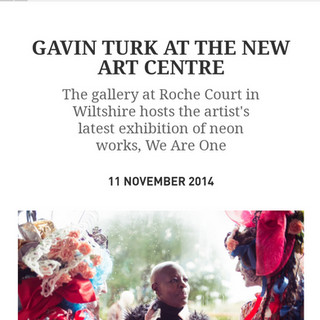 Performers wearing costumes by Anna at the opening of Gavin Turk's exhibition, featured in Town and Country.