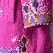 Close-up of coat sleeve