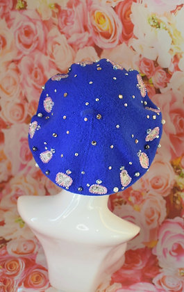 Electric blue, cats in hats and Swarovski crystals beret