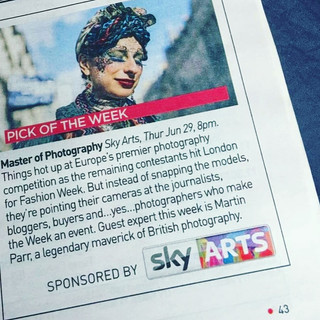 Anna photographed at London Fashion Week, featured in the Sky Arts show Master of Photography, in the Mail on Sunday.