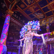 The costume worn by Anna at Andrew Logan's Alternative Miss World at The Globe Theatre.