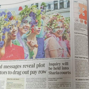 Feature in Evening Standard