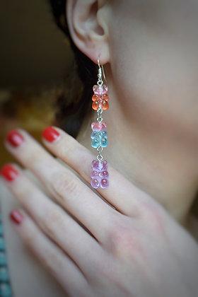 Bright gummy bears statement earrings