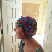 A turban for Anne, a cancer survivor for Look Good Feel better at Liberty