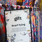 Scarf styling at Liberty London