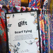 Scarf styling at Liberty London