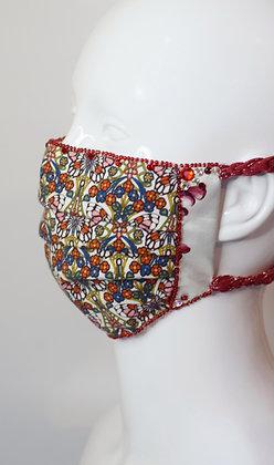Art nouveau butterflies Liberty print glam facemask