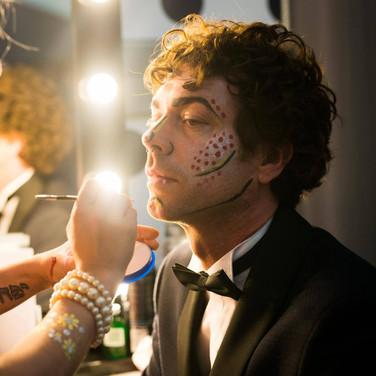 A gentleman enjoys a pop art makeover