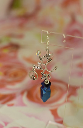 Peace nature earrings with Jean Paul Gaultier designed Swarovski crystals