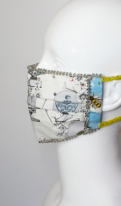 Collection and Bees glam facemask with Swarovski crystals