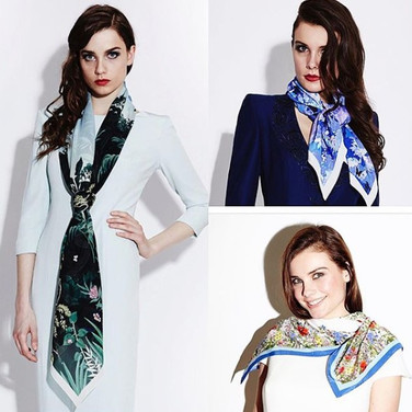 Scarf styling for Catherine Walker.