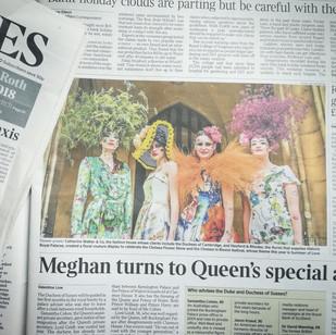 Catherine Walker flower walk in The Times.