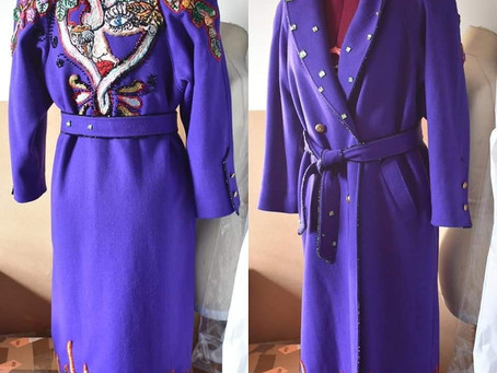 A beautiful vintage coat embroidered