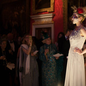 Guests enjoy luxurious drinks and the catwalk