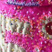Close-up of back of the coat.