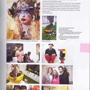 Featured in a magazine at Debut Contemporary Gallery.