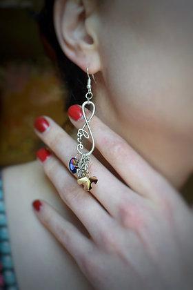 Lucky in love statement earrings