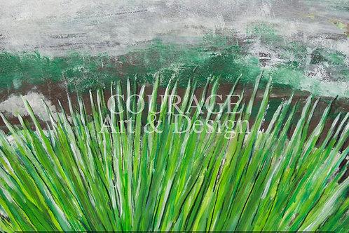 Gras abstrakt