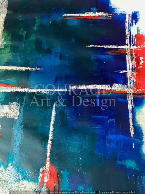 Abstract life in blue