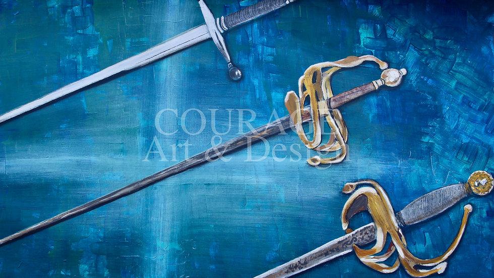 Die Schwerter 1 Kunstdruck bestellbar