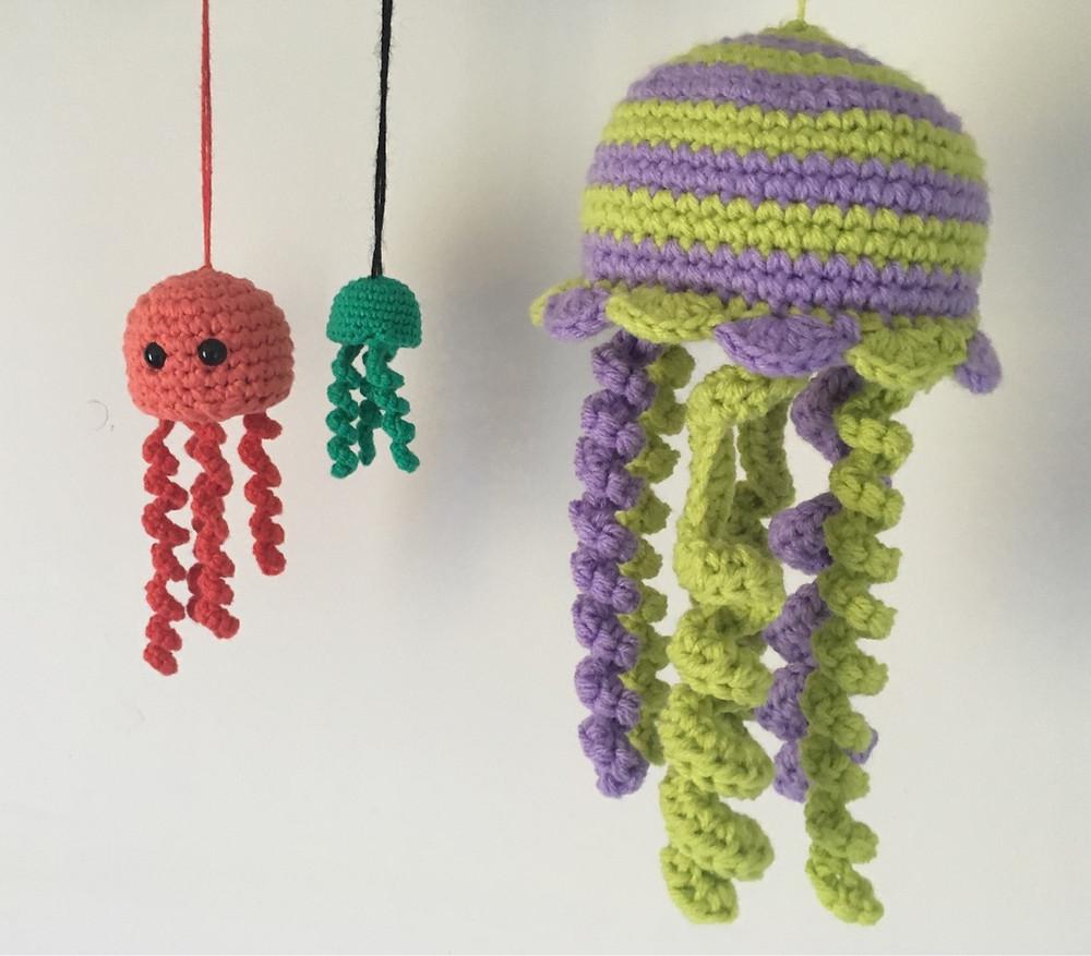Amigurumi Jellyfish Toy Softies Free Crochet Patterns   877x1000