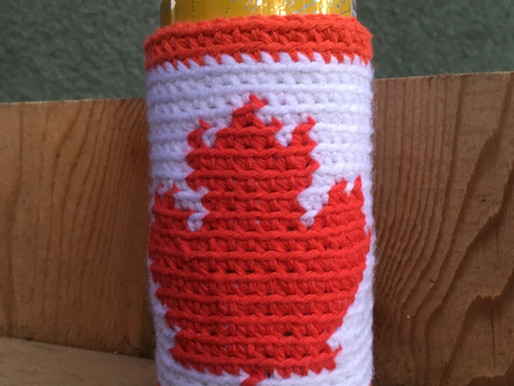 Canadian Flag Beer Cozy (Tall)