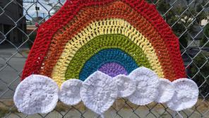 Yarn Bomb: Rainbow (Pride 2018)