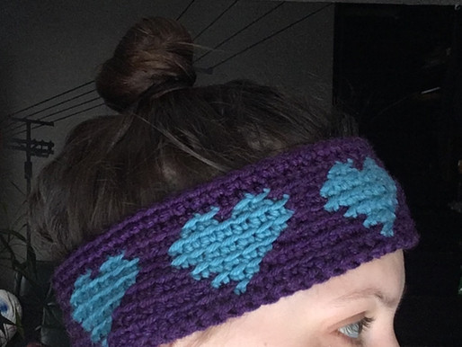 Loving' Heart Head Band/Ear Warmer Crochet Pattern